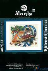 Merejka Designs K-68 - Kittens and Cherries