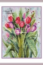Watercolor tulips by Anna Petunova