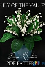 Lauren's Creations French Beaded Lily of the Valley by Lauren Harpster