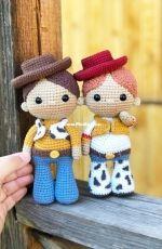 KnitToys - Tatyana Medvedeva - Jessy and Woody the toy story