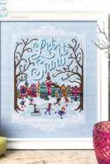 Let It Snow - Snow Town from Cross Stitch Crazy 210 XSD