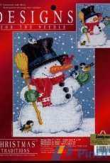 Leisure arts 309847 Designs for the needle Snowman with Birds -Bonhomme de neige avec oiseaux