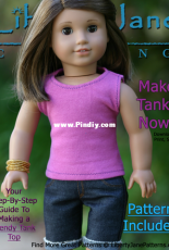 """Liberty Jane Clothing - Tank Top for 18"""" Doll - Free"""