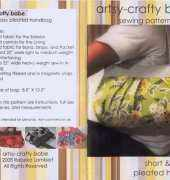 Artsy-craft Babe-Short & Sassy Pleated Handbag
