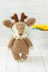 Miracle knitted toys - Ekaterina Shokhina - Nyasha the deer - Translated - Free