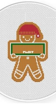 Daily Cross Stitch - Gingerbread Sign