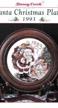 Stoney Creek Collection Leaflet 62 Santa Christmas Plate 1993