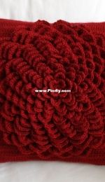 Crochet Spot Patterns - Rachel Choi - Flower Pillow Cover