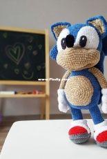 Crochet Wonders Design - Olga Kurchenko - Mister Sonic 36 cm tall
