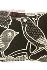Charlene Mullen - Blackwork blackbird pillow