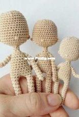 Alenkortoys - Elena Kuznetsova - Crocheted body for the framed doll