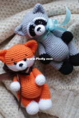 Knit Friends - Svetlana Altunina - Little fox and raccoon