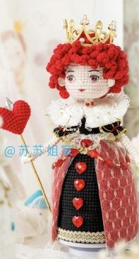 New Mommy Handmade DIY - Su Su Jie Jia - Susan's Family - SA1387 - Red and White Queen Doll Music Box - Red Queen - Chinese - Free