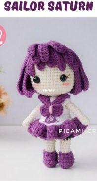 Pigami Crochet - Sailor Outer Scouts - Tomoe Hotaru - Sailor Saturn