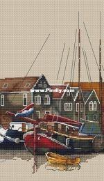 Paradise Stitch - Fishing Wharf by Olga Lankevich