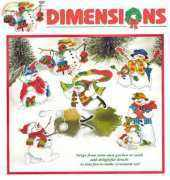 Dimensions 8648 - Silly Snowmen Ornaments