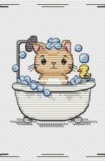 Sweet Annet - Cat in Bath by Anna Pavlyuk