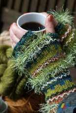Grist Creative LLC-Scintillae  Fingerless Gloves/Mitts by Susan Gehringer-Free