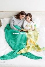 Yarn Inspirations - Mermaid Snuggle Sack - Free