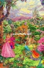 M.C.G. Textiles 52508 - Sleeping Beauty - Disney the Dream Collection by Thomas Kinkade (Repaint)