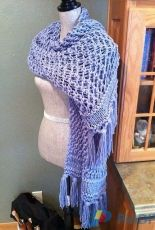 Easy 2-Strand Chunky Lace Prayer Shawl  by Louis Chicquette-Free