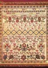 Dorothy Preston Sampler From Sampler & Antique Needlework Volume I