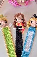 Que Se Teje Amigurumis - Melisa Valdes - Bookmarks - Tinker Bell, Hermione and Alice - Translated