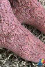 Socks with Lace Pattern by Anne Abrahamsen-Free