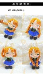 Crochet Garage -Mini Anna Frozen 1 - Portuguese - Translated