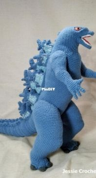 Crochet Wonder design - Giant Godzilla