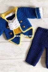You Crochet - Jeanine Andrea - Beast Jacket and Pants Set