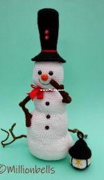 Millionbells Snowman with Lantern