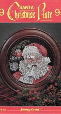 Stoney Creek Collection Leaflet 32 Santa Christmas Plate 1990
