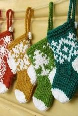 Little Cotton Rabbits- Mini Christmas Stocking Ornaments by Julie Williams-Free