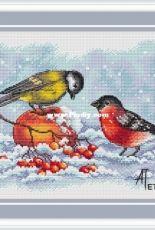 Bullfinch and Titmouse by Anna Petunova