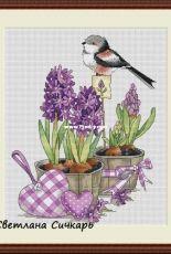 Bird with Flowers by Svetlana Sichkar
