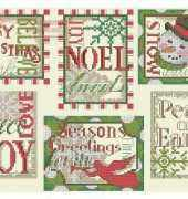 Dimensions 8827 Christmas Sayings Ornaments