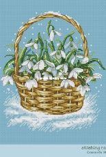 Stitching Rabbit Design - Snowdrops by Maria Semenova