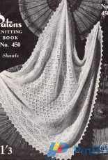 Cloud Drift Baby Shawl from Patons Knitting Book No 450 - Free