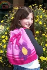 Ayla Felted Backpack by Jordana Paige/ Knitty, Fall 2006-Free