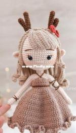 Green Frog Crochet - Thuy Anh - Reindeer Elf