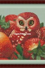 Strawberry Owl by Nadezhda Gavrilenkova