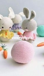 Theodore and Rose  - Alanna ODea - Baby Bunny Rattle and Skittle Doll