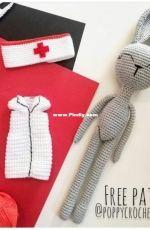 Poppy Crochet Design - Zsuzsanna Blaho - Doctor  Bunny  - Free