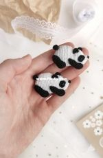 Panda brooch by Crochet Pattern By Lily - Liliya Sharipova