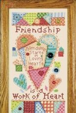 Design Works 2384 Friendship Stamped Design