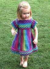 Bonita Patterns - Rachel Azulay - Crocodile Stitch Girly Dress