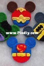 Colorful Easy Crochet -Olga Tarasova - Batman, Hulk, Superman and Wonder Woman - Disney Superhero Mouse Ears - English