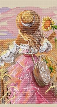 Paradise Stitch - Summer Girl by Olga Lankevich / Девушка Лето - Ланкевич Ольга