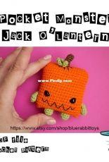 Blue Rabbit - Irina Tocelovska - Pocket Monster Pumpkin Jack O'Lantern